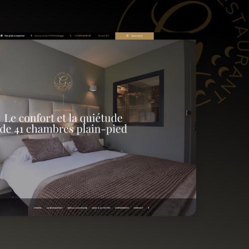 Site web Hôtel restaurant du Golf Saint Lazare