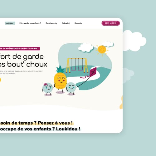 Création du site web Loukidou
